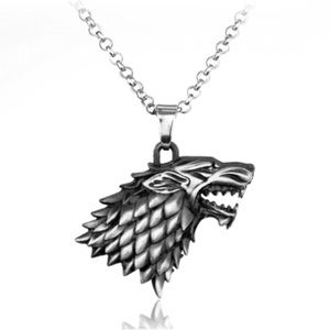 Jewelry - Game of Thrones - House is Stark Necklace.